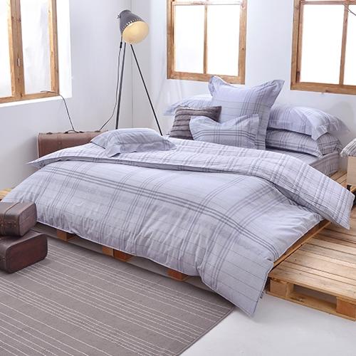 義大利La Belle《悠然灰調》單人三件式防蹣抗菌吸濕排汗兩用被床包組