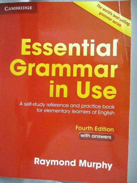 【書寶二手書T1/原文書_ZAB】Essential Grammar in Use With...