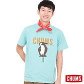 CHUMS 日本 男 Ice Cream Booby 冰棒 輕柔綿短袖T恤 水藍 CH011044A011