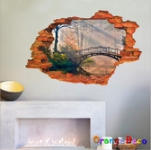 壁貼【橘果設計】窗外吊橋 DIY組合壁貼 牆貼 壁紙 壁貼 室內設計 裝潢 壁貼