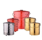 燒金桶 加厚不銹鋼聚寶桶燒金桶燒經桶祭祀燒紙桶化寶桶拜神焚化燒元寶爐T 2色