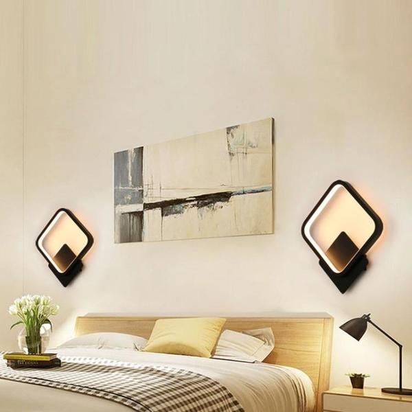 樓梯燈 床頭燈壁燈臥室過道北歐簡約創意led客廳背景墻燈樓梯走廊燈具 DF 維多原創