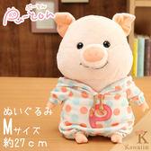 Hamee 日本 Pig童話故事系列 三隻小豬 絨毛玩偶 布偶娃娃 M (圓點點小豬) 557-030428