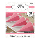 錐形禮物盒50入-甜心粉