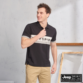 【JEEP】HiCool吸濕排汗運動短袖POLO(黑色)