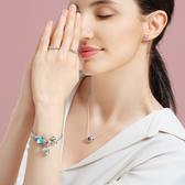 心心相連925銀戒指190980簡約氣質情侶對戒 女