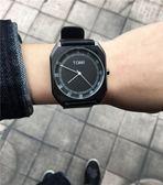 大表盤潮男皮帶手錶創意男學生時尚潮流時裝表