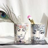 陶瓷收納杯筆筒刷桶美妝彩妝化妝刷筒