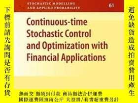 二手書博民逛書店Continuous-time罕見Stochastic Control And Optimization With