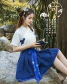 古裝春夏改良漢服女復古民國風旗袍繡花雪紡長裙日常古裝風學生唐- 新品