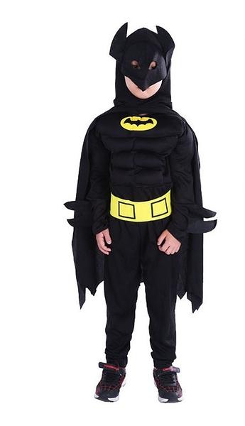 衣童趣(•‿•)帥氣英雄人物 蝙蝠俠 角色扮演服裝 萬聖節 肌肉裝 英雄造型套裝 【現貨】