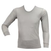 【岱妮蠶絲】EO30102L純蠶絲長袖衛生衣(銀灰EL)