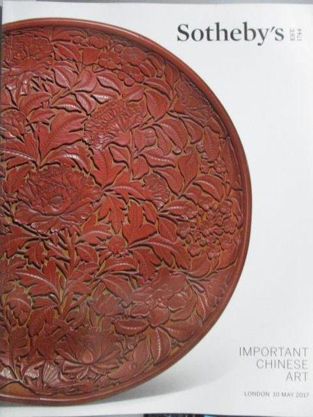 【書寶二手書T5/收藏_XBE】Sotheby s_Important Chinese Art_2017/5/10