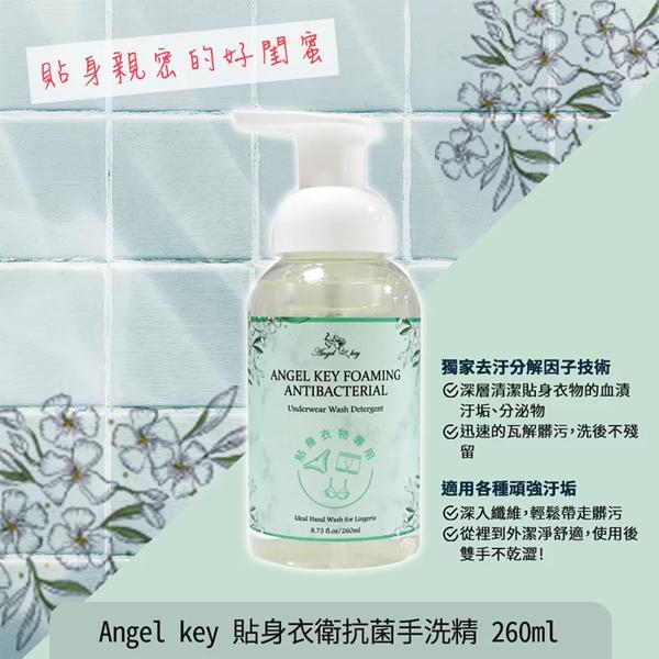 Angel key 貼身衣衛抗菌手洗精 260ml 貼身衣物手洗精 清潔 洗衣精【PQ 美妝】