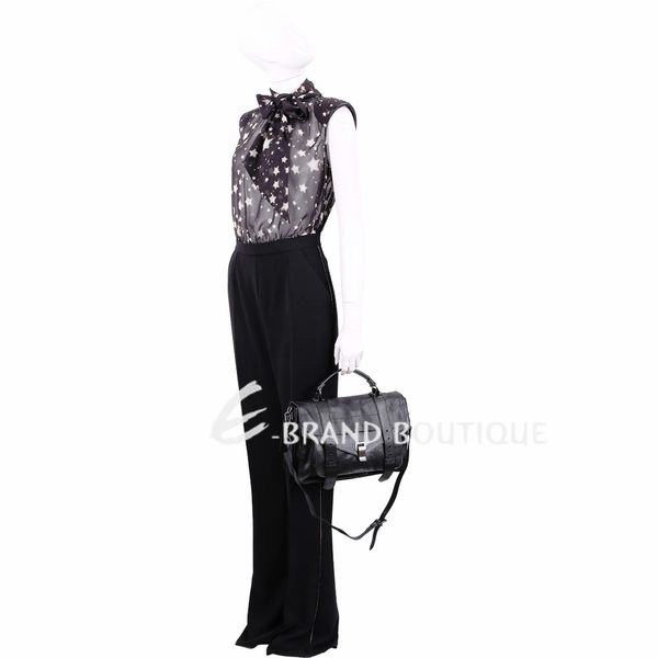 PROENZA SCHOULER PS1/C1 中型山羊皮革兩用包(黑色) 1340696-01