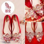 水鉆婚鞋女新娘高跟鞋伴娘鞋