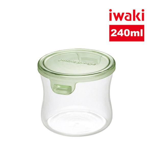 【iwaki】日本品牌耐熱玻璃微波罐240ml(圓型綠)