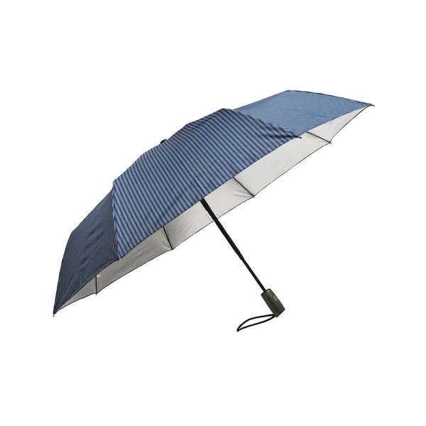 699 特價 雨傘 陽傘 萊登傘 抗UV 防曬 加大傘面 防風抗斷 102cm自動傘 印花布 銀膠 Leighton 直紋鐵藍