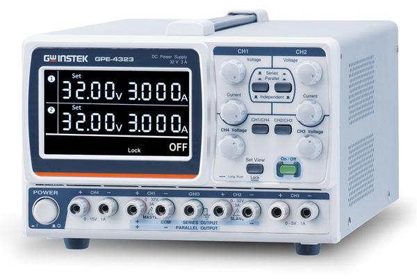TECPEL泰菱電子》固緯 GWInstek GPE-4323 多通道直流電源供應器 4CH 0 ~ 32V/ 0~3