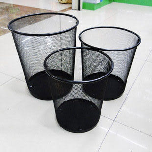 金屬鐵垃圾桶小中大廢紙簍