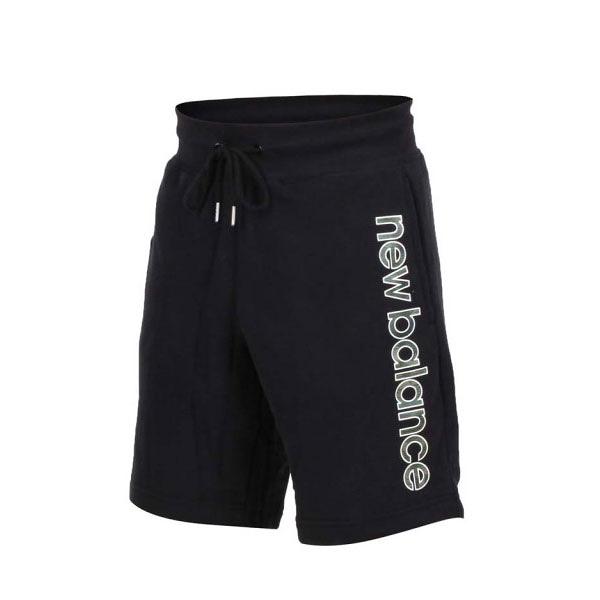 NEW BALANCE ATHLETIC 黑 迷彩字體 棉 短褲 男 (布魯克林) 2019/05月 AMS91519BK