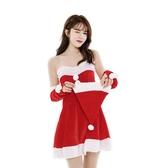 聖誕節服裝 女高端金絲絨成人圣誕節服裝帽子套裝酒吧演出服cos服飾【快速出貨】