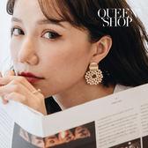 Queen Shop【07030514】渡假風串珠耳環 兩色售*現+預*
