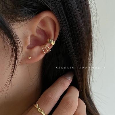 耳骨夾 氣質時尚簡約多圈耳夾無耳洞女復古港味冷淡風耳骨夾仙氣森系超仙