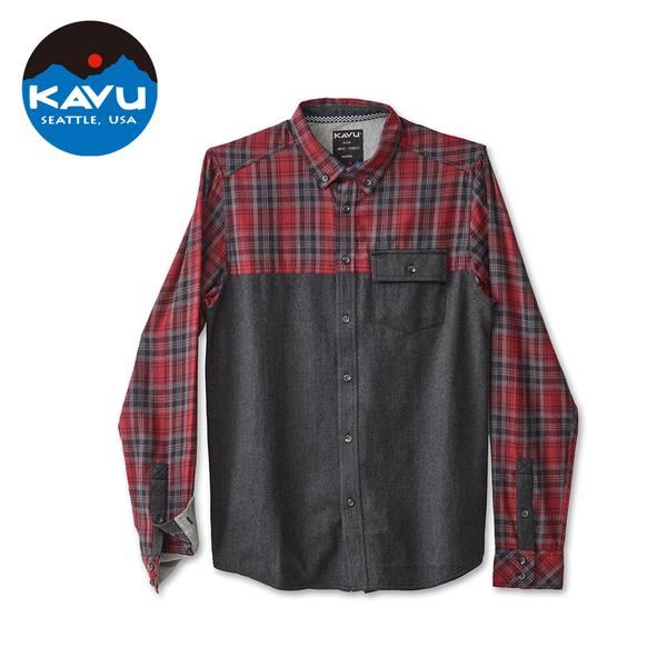 【西雅圖 KAVU】South Fork 經典格紋襯衫外套 煙霧黑 #5040