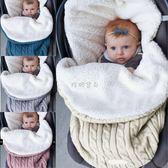 推車睡袋 爆款 歐美熱銷嬰兒睡袋 baby加厚加絨針織保暖睡袋  毛線推車睡袋 珍妮寶貝