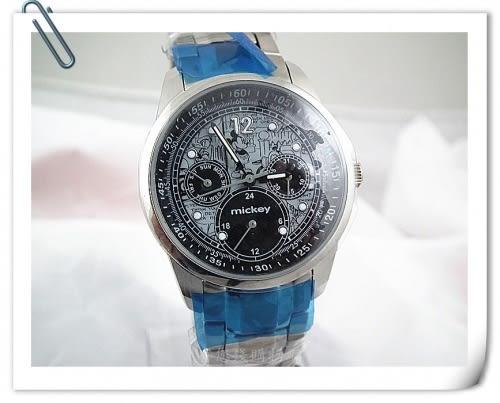 《省您錢購物網》全新~【迪士尼】米奇唐老鴨塗鴉漫畫夜光指針造型錶+贈台製精品鬧鐘*1