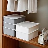 收納盒 內衣收納盒塑料家用抽屜式分格文胸放襪子內衣褲有蓋收納箱三合一 「雙10特惠」