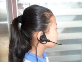 耳掛式電話耳機電腦客服耳麥話務員手機耳麥