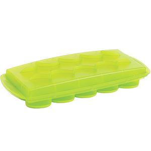 【法國mastrad】15格橢圓形按壓製冰盒綠