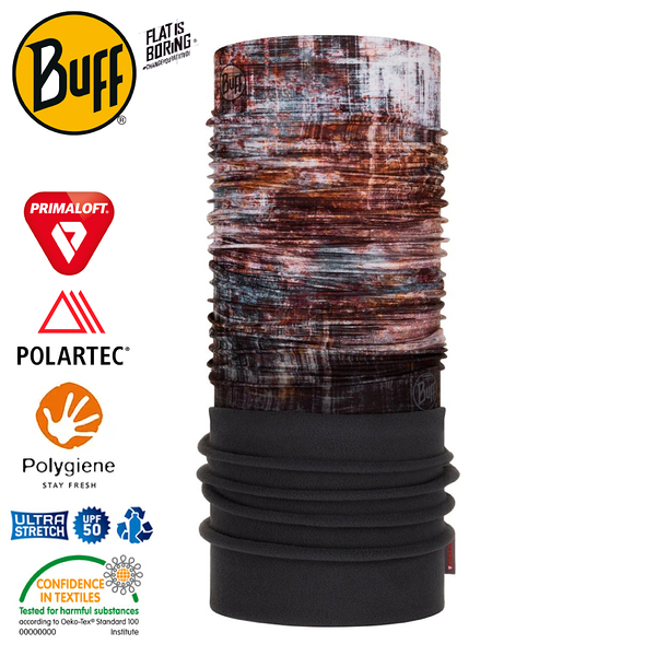 【BUFF 西班牙 Polar 保暖頭巾 Plus 斑落鏽色】120912/圍脖/帽子/口罩/圍巾/快乾透氣