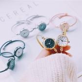 ins超火的手錶別樣簡約chic復古小表盤手鐲表文藝百搭女學生韓版 週年慶降價