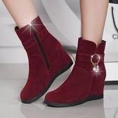 新款雪地靴女短筒學生韓版短靴女馬丁中筒棉靴內增高女鞋子