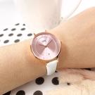 EROS CERES 贈錶帶 / LQ3303RG-PIN / 藍寶石水晶玻璃 晶鑽 日期 米蘭編織不鏽鋼手錶 禮盒組 粉x玫瑰金 33mm