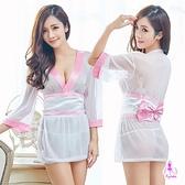 睡衣 性感睡衣 角色扮演 星光密碼【H212-1】純白櫻花薄紗和服三件組性感睡衣cosplay