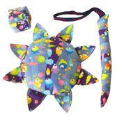 兒童布藝安全軟飛盤幼兒園親子戶外手工布飛碟沙包尾巴三件套玩具 小巨蛋之家