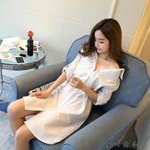 中長款襯衫睡衣女朋友白襯衫