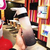 隨行杯美式大容量便攜噴霧杯簡約網紅塑料水杯男女士創意運動健身隨行杯伊芙莎