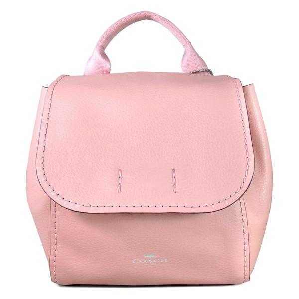 COACH 輕量軟皮革三用後背包 斜背包 手提包(粉色)-59819