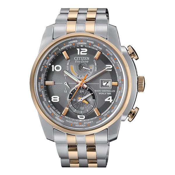 【僾瑪精品】CITIZEN 星辰 電波光動能時尚腕錶 AT9016-56H