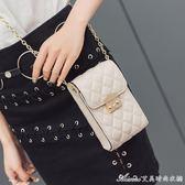 新款夏季韓版手機包女豎款斜背百搭小香風鍊條迷你小包包袋潮 艾美時尚衣櫥
