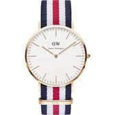 Daniel Wellington DW 瑞典簡約風格手錶 40mm/尼龍/經典款 0102DW/DW00100002