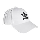 adidas 帽子 Trefoil Baseball Cap 白 黑 男女款 老帽 棒球帽 【ACS】 FJ2544