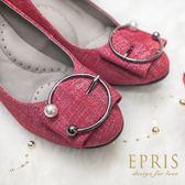 現貨 休閒鞋可彎折90度 折折鞋 丹寧布 21-26 EPRIS艾佩絲-丹寧紅