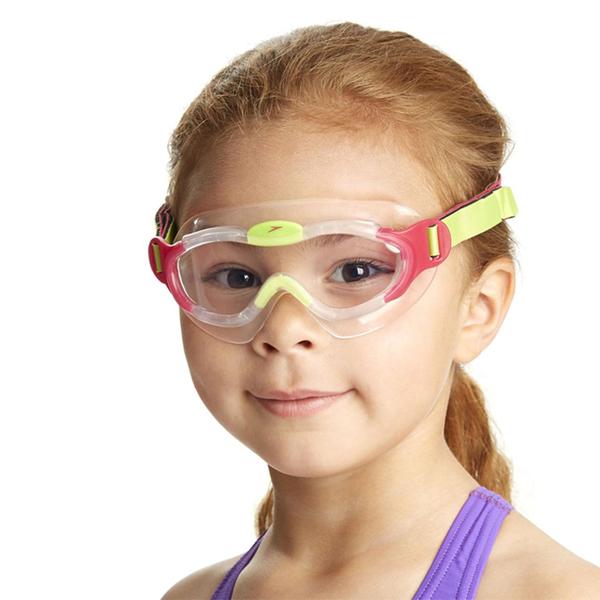 ║speedo║兒童進階面罩泳鏡(2-6Y)粉