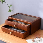 首飾盒女木質首飾收納盒手飾耳環飾品盒收納盒【櫻田川島】